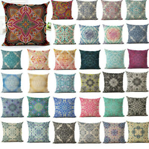 Vintage-Boho-Pattern-Pillow-Case-Cotton-Linen-Sofa-Cushion-Cover-Decor-18inch