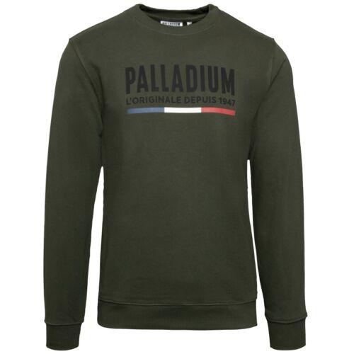 Palladium originaux France Crew Neck Pull Hommes Sweat-shirt kaki 172784-386