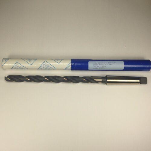 """Cobalt Taper Shank 45//64 9/"""" Flute 3MT #3 HD Twist Drill bit 135 Split Point USA"""