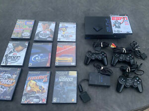 PlayStation 2 Fat Console SCPH-39001/n, 3 Controllers, Mem Card, Games& Multtap