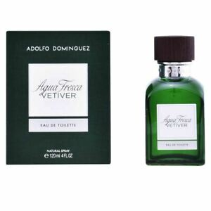 Adolfo Dominguez Agua Fresca Vetiver Eau de Toilette 120ml Spray para Hombres Nuevo Reino Unido