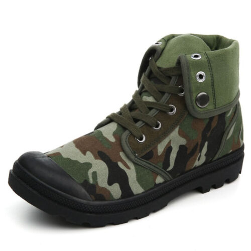 Mens Casual canvas Sports High Top Hiking Combat Shoes Running Trainers Footwear