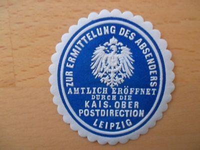 (10322) Siegelmarke - Absenderermittlung Ober-postdirection Leipzig