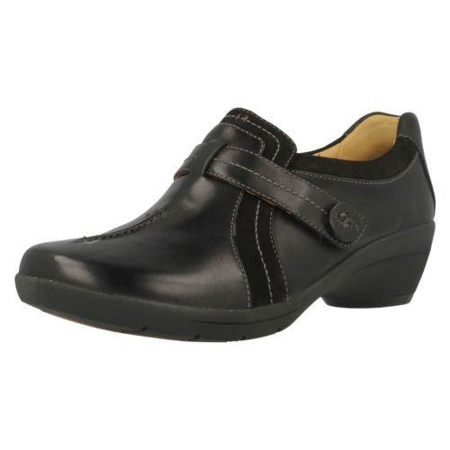 l'onu clark femmes clark l'onu des chaussures en cuir noir, faina 87473d