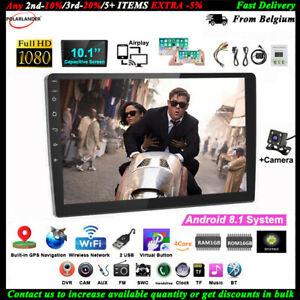10-1-039-039-2-Din-Android-GPS-Autoradio-CAM-Tactile-Wifi-Airplay-iOS-Lien-Miroir-BT-FM
