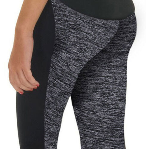 Damen Leggings Kompression Sport Yoga Fitness Leggins Legging Jogging Hose Black