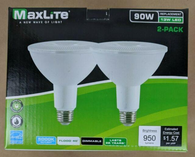 Bright White PAR38 LED light bulbs GE Lighting Indoor//Outdoor LED Floodlight Dimmable 3-Pack