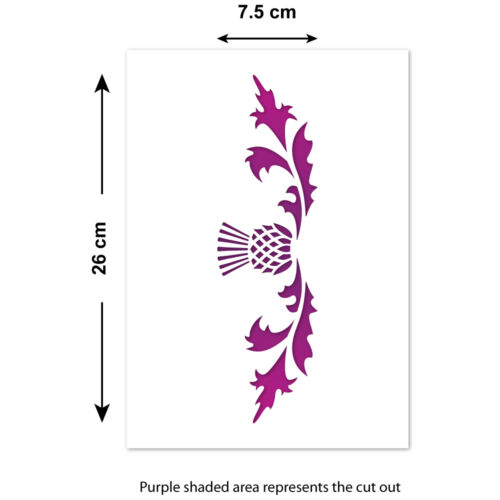 A4 Mylar Scottish Thistle Template CraftStar Thistle Border Stencil