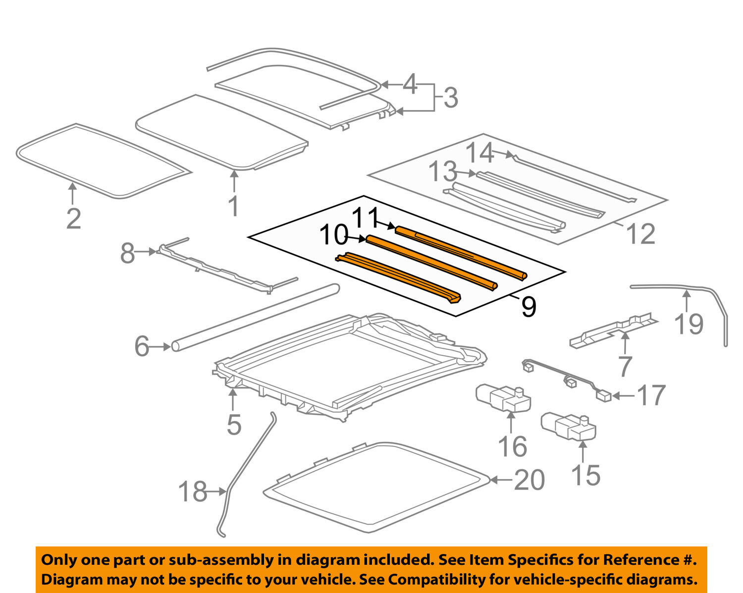 2003 Cadillac Cts Sunroof Wiring Diagram Everything About Gm Oem Drip Channel 22886294 22889266 Ebay Rh Com Thermostat Removal Deville Dts