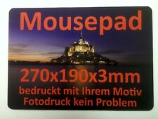 Mousepad 270x190x3mm bedruckt mit Ihrerm Foto, Logo, Motiv