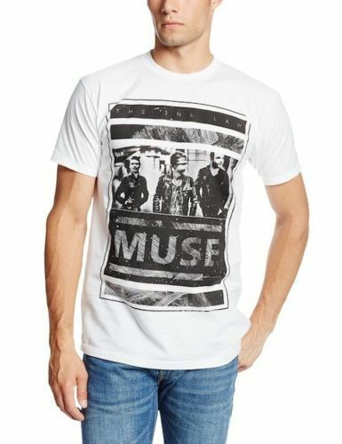 Official Muse Men/'s White T-Shirt US IMPORT Photo Block