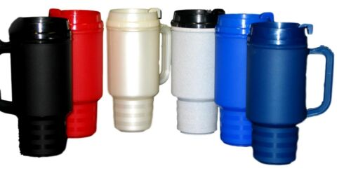 1 Travel Mug 18 Ounces Double Walled Air Insulated Choice of Colors Made  USA *