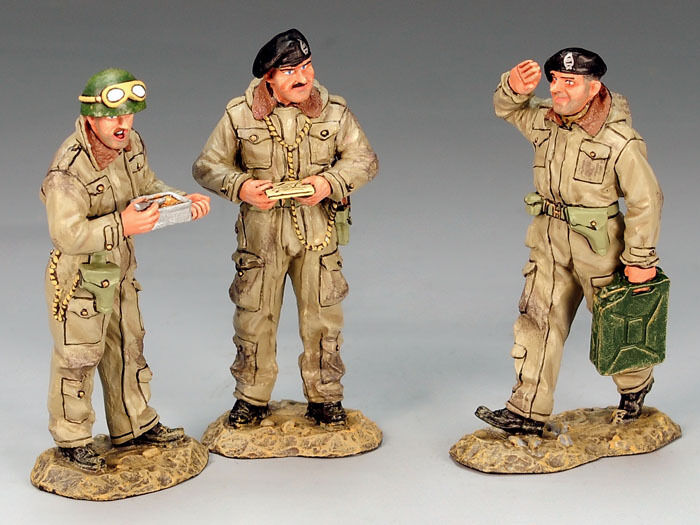 KING & COUNTRY D DAY DD136 BRITISH DISMOUNTED TANK CREWMEN MIB