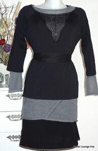 Vive-Maria-Baumwolle-Shirt-Tender-Love-XL-42-black-schwarz-Spitze