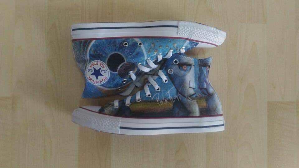 Zapatos de mujer baratos zapatos de mujer Scarpe Converse Custom Pink Floyd