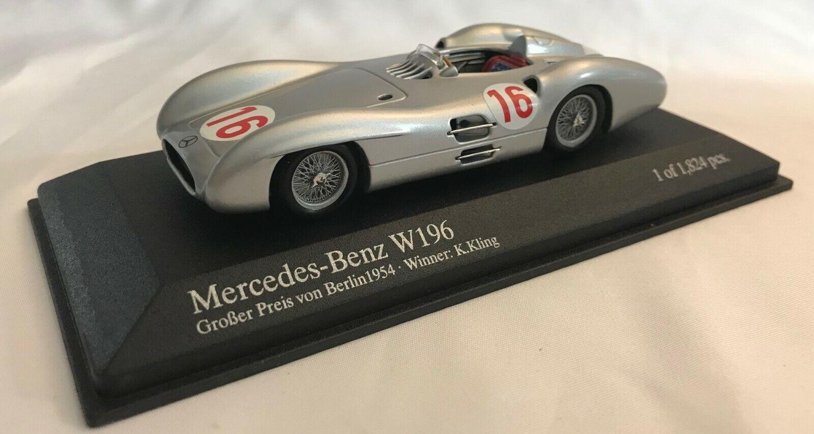 1 43 Minichamps Mercedes Benz W196 GP of  1954 Winner J.M. Fangio 432543016