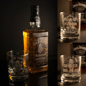 Engraved Bottle Of Whisky And Glass Uk