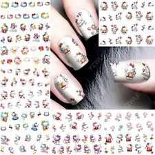 12 sheets Cute Cartoon Cat water transfer nail art decoration stickers decals