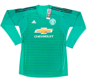1df175502bd Image is loading Manchester-United-FC-Goalkeeper-Jersey-18-19-BNWT-
