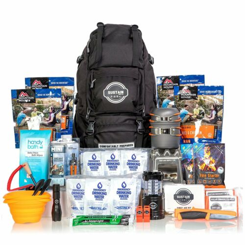 Premium 72 Hour Disaster Kit 2 Person Survival Kit Emergency Kit Backpack Aid