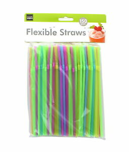 Lot-of-750-Flexible-Straws-Pastel-Bendable-Plastic-Drinking-Beverage-Sipper