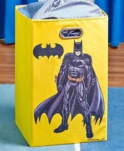 Licensed super hero batman laundry hamper colorful superman kids hamper ebay - Batman laundry hamper ...
