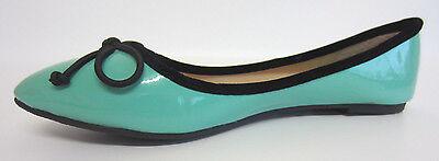 Spot on f8823 Damen Grün Patent Synthetisch Ballerina Schuhe uk4-6 (R9B)