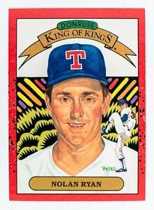Nolan Ryan #665 (1990 Donruss) King of Kings, Error NO Number, Rangers, HOF