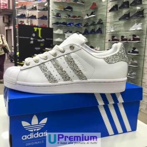 Adidas Superstar weiß Brillantinate Silber  Schuhe Schuhe Schuhe OR 04c914
