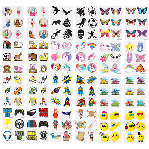 Childrens-tatuajes-temporales-Fiesta-Loot-Bolsa-Relleno-Diversion-Juguetes-Ninos-Ninas-Ninos