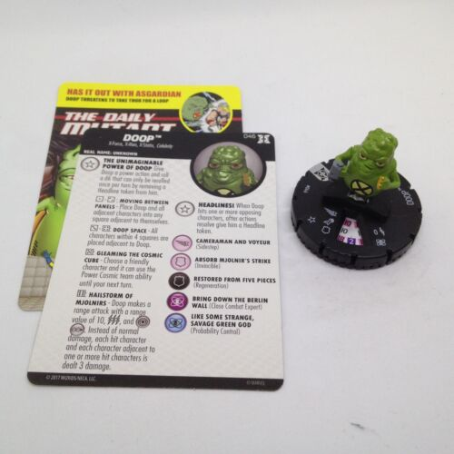 Heroclix Deadpool & XForce set Doop #046 Rare figure wcard!