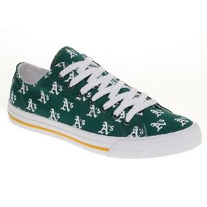 b98ed0c06296b Details about Oakland A's Athletics MLB Row One Apparel Men Women Kids Low  Top Sneakers Shoes