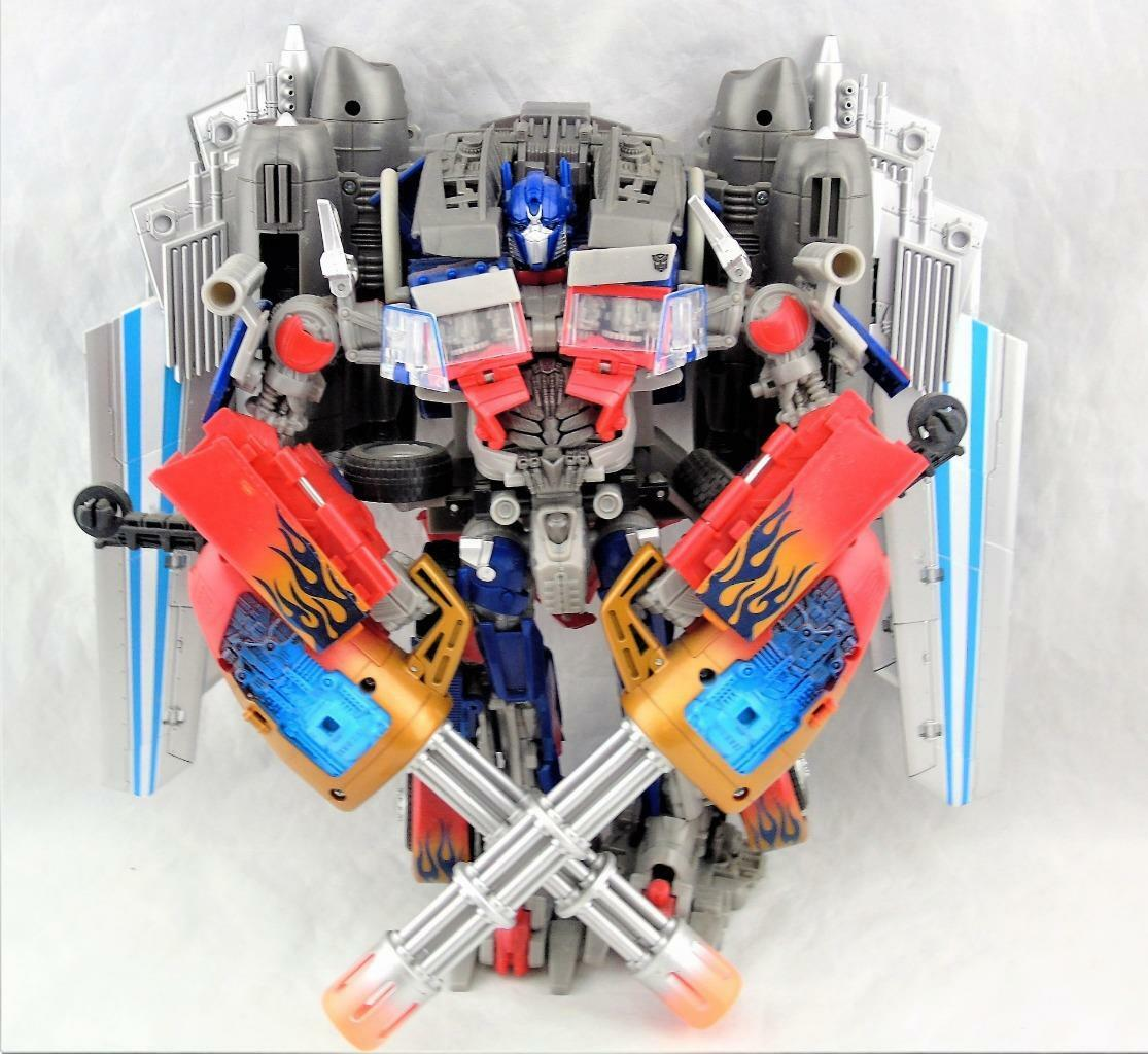 Transformers Dark Of The Moon Moon Moon DOTM Supreme Leader Jetwing Optimus Prime Complete 3e28e7