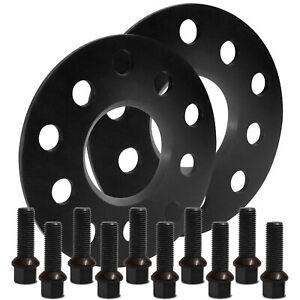 Blackline-Spurverbreiterung-10mm-mit-Schrauben-schwarz-Seat-Leon-Typ-5F-2012