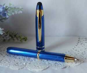 HIGH QUALITY 3 in 1 Corolla LED Lighted Tip Blue Stylus Pen by Adler