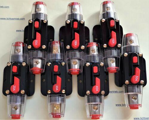 Leistungsschalter 40A Automatische Sicherung Automat Marine KFZ 12V 60VDC DHLDE