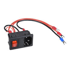 15A 220V//110V Inlet Male Plug Power Socket With Fuse Switch 3D Printer Parts