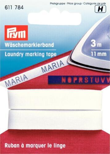 Wäschemarkierband  3 m Aufbügelbar Prym 611 784