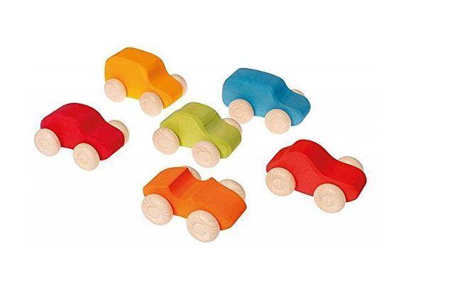 Grimm's Gioco e Legno Design 09310 - Coloreeati Parcheggio Silos Im 6x Set Nuovo