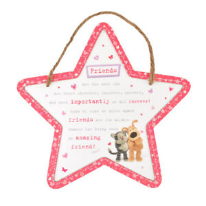 Boofle-Wooden-Star-Shaped-Amazing-Friend-Plaque-Lovely-Gift-Idea