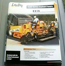 Factory Oem Dealership Brochure Leeboy 8515 Paver Asphalt