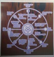 Satanic Calendar Witchcraft Pagan Poster 24 X 24 Evil Art Devil Pentagram