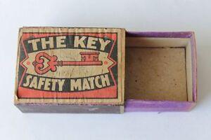 Antique THE KEY SAFETY MATCH Big Size Sweden Stick Holder
