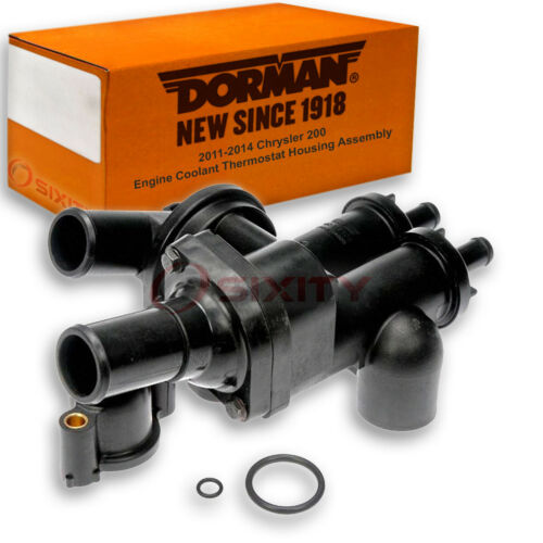 Dorman Coolant Thermostat Housing Assembly for 2011-2014 Chrysler 200 2.4L rq