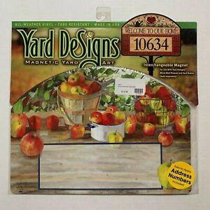Yard-DeSigns-Magnetic-Yard-Art-Sign-Apple-Harvest-Fall-Autumn-W-Address-Numbers