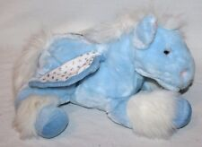 """15"""" Animal Alley Horse Winged Plush Silver Blue Sparkly Plush RARE Pegasus Wings"""