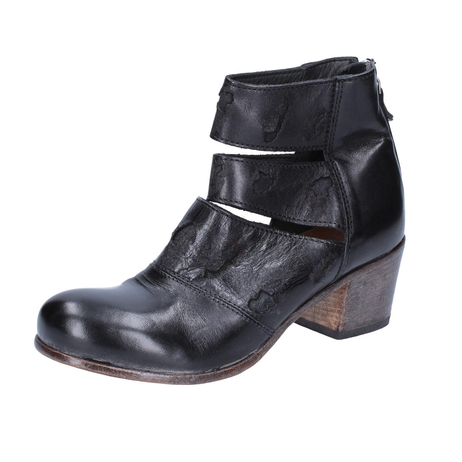 Scarpe tronchetti donna MOMA 37 EU tronchetti Scarpe nero pelle BX986-37 f2900b