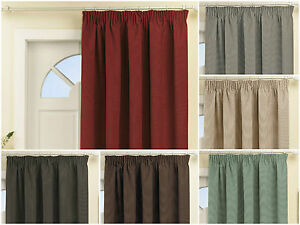 Thermal-Lined-amp-Energy-Saving-Blackout-Door-Curtain-Pencil-Pleat-66-034-x84-034