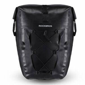 RockBros Cycling Waterproof Pannier Carrier Bag MTB Bicycle Rear Seat Black 1pcs