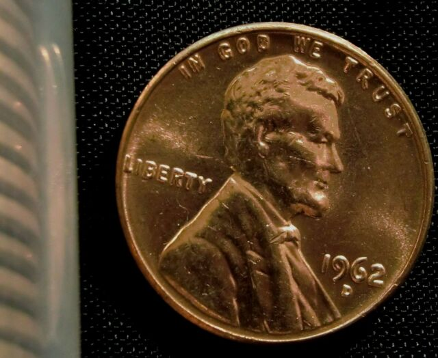 1962 1C RD Lincoln Cent